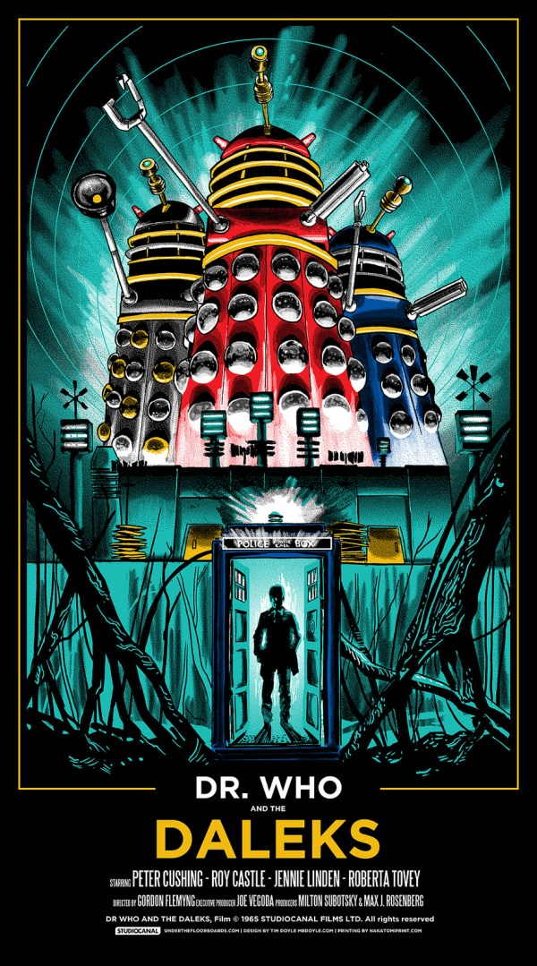 Dr Who and the Daleks (1965) Starring Peter Cushing - Poster by Tim Doyle
