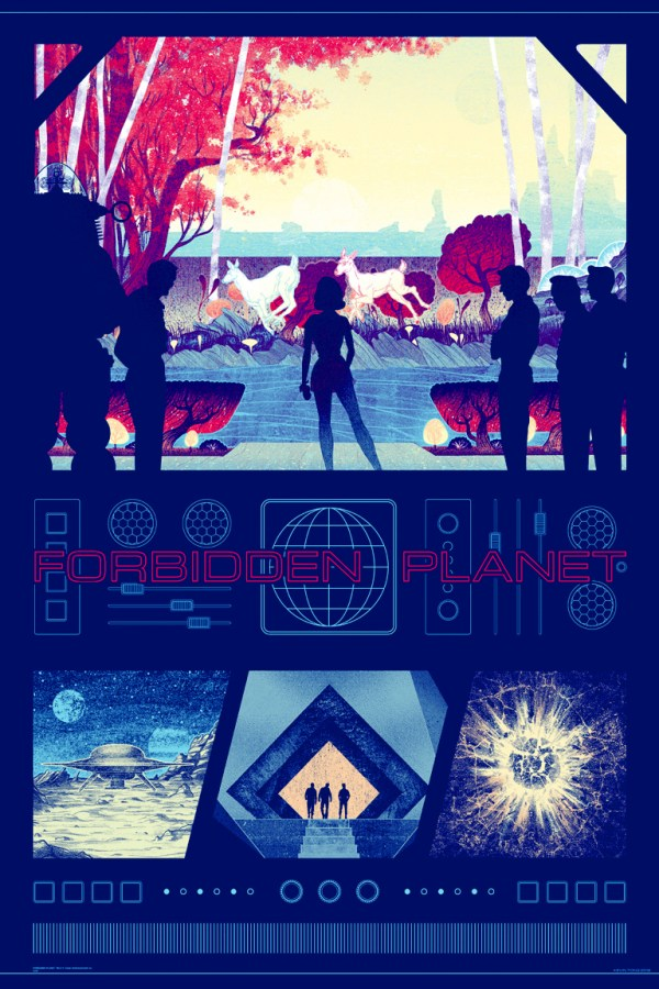 Forbidden Planet Poster by Kevin Tong