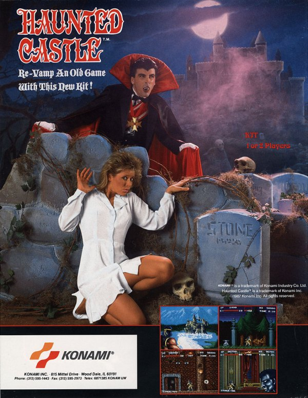 Haunted Castle (1987) - Konam Arcade Flyer