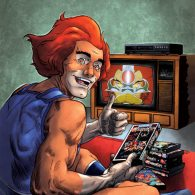 Lion-O watching VHS tapes by Laemeur and oICEMANo
