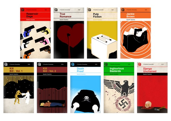Penguin style book covers for Quentin Tarantino's screenplays