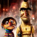 Alternate Bert and Ernie by Dan LuVisi - Sesame Street, Muppets, Disturbing