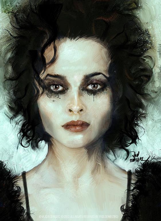 Fight Club - Marla Singer (Helena Bonham Carter) art by Vlad Rodriguez