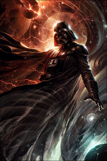 Center of the Storm by Raymond Swanland - Darth Vader - star wars art