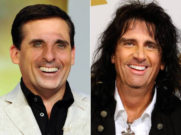 Steve Carell and Alice Cooper Face Swap