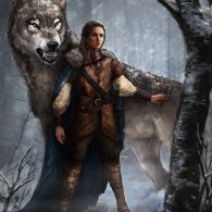 Arya Stark and Nymeria by monsterling - Game of Thrones - A Song of Ice and Fire