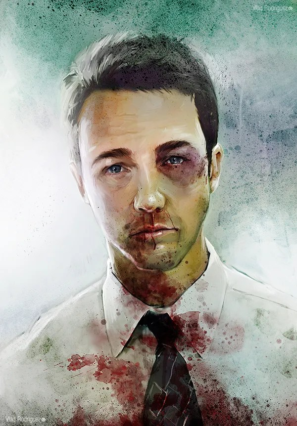 Fight Club Narrator (Edward Norton) by Vlad Rodriguez