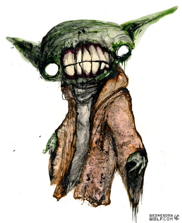 star wars art - yoda by wednesday wolf