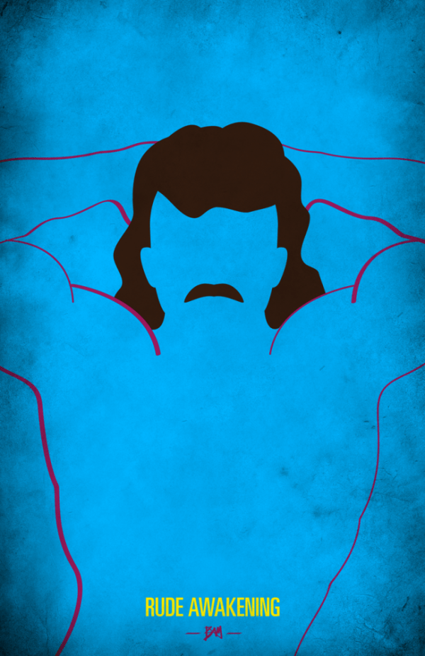Rick Rude Minimalist WWF Wrestling Poster