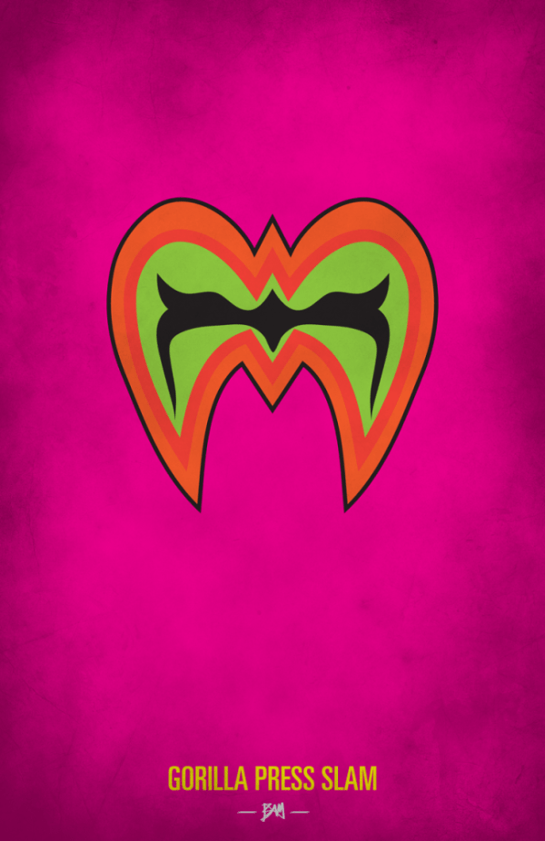 Ultimate Warrior Minimalist WWF Wrestling Poster