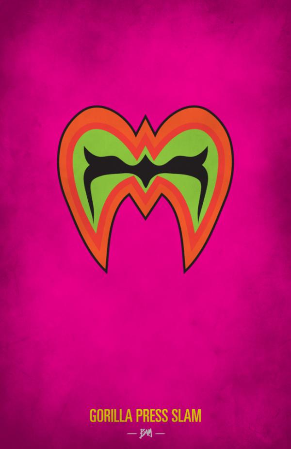 Ultimate Warrior Minimalist WWF Wrestling Poster