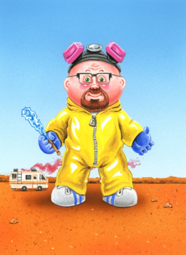 Breaking Bad x Garbage Pail Kids Mashup: Weird Walt / Brock Candy