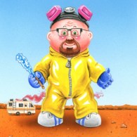 Walter White as a Garbage Pail Kid by Mark Pingatore - Breaking Bad Art