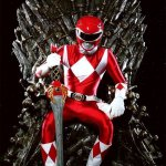Red Ranger Sitting on the Iron Throne from Game of Thrones - Mighty Morphin Power Rangers - Tommy Oliver