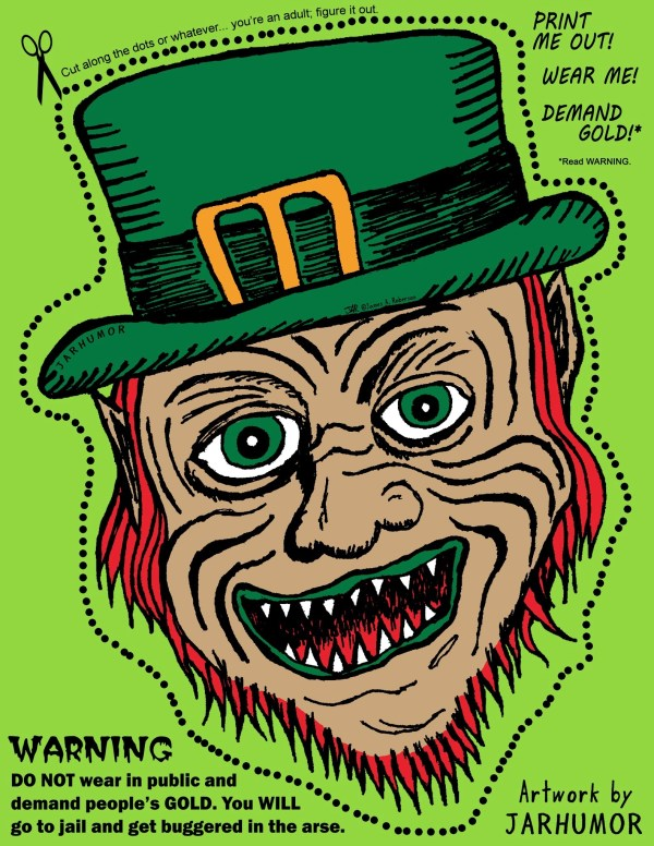 Printable Leprechaun (Warwick Davis) Mask by JARHUMOR