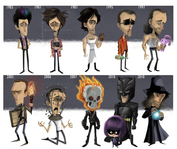 Evolution of Nicolas Cage by Jeff Victor