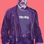 Hodor 80s/90s Style - Terminator - Game of Thrones Art