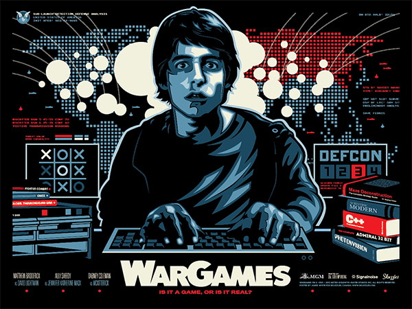 WarGames Poster by James White