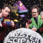 Mystery Science Theater 3000 cast - Tom Servo, Joel Robinson, Crow T. Robot, Gypsy, Dr. Clayton Forrester, TV's Frank