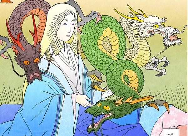 Daenerys Targaryen Japanese Woodblock Style - Game of Thrones