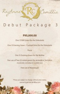 debut gown packages manila