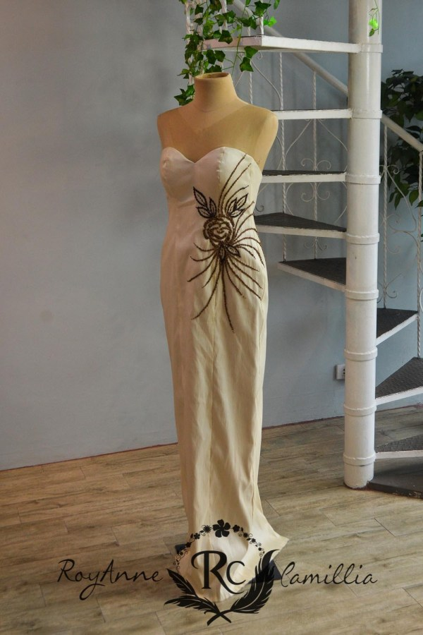 cream rental gown by royanne camillia the best rental gowns in the philippines
