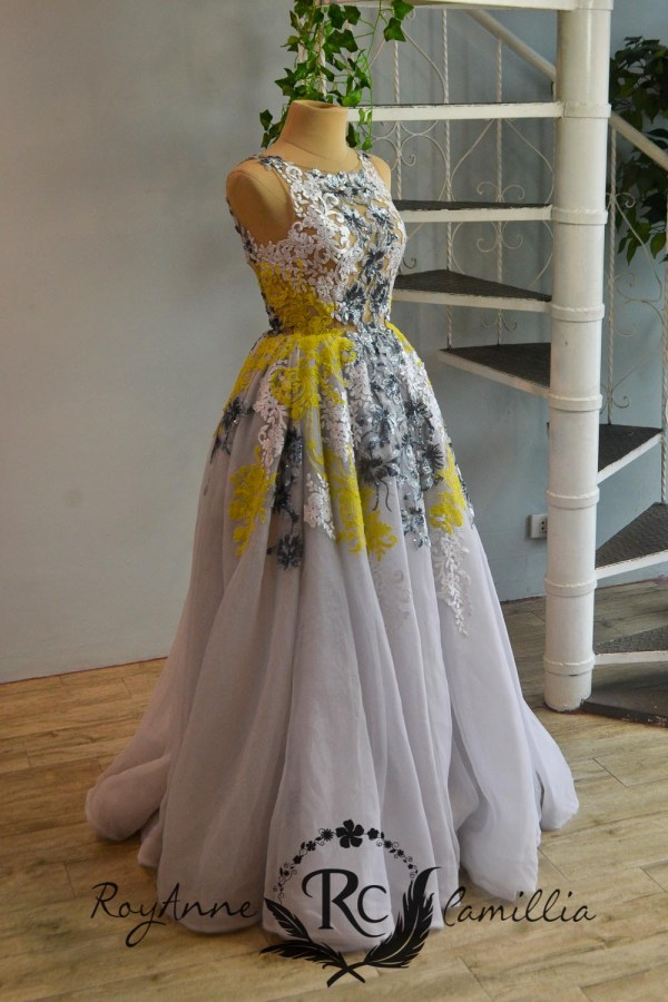 floral white rental gown by royanne camillia the best rental gowns in the philippines