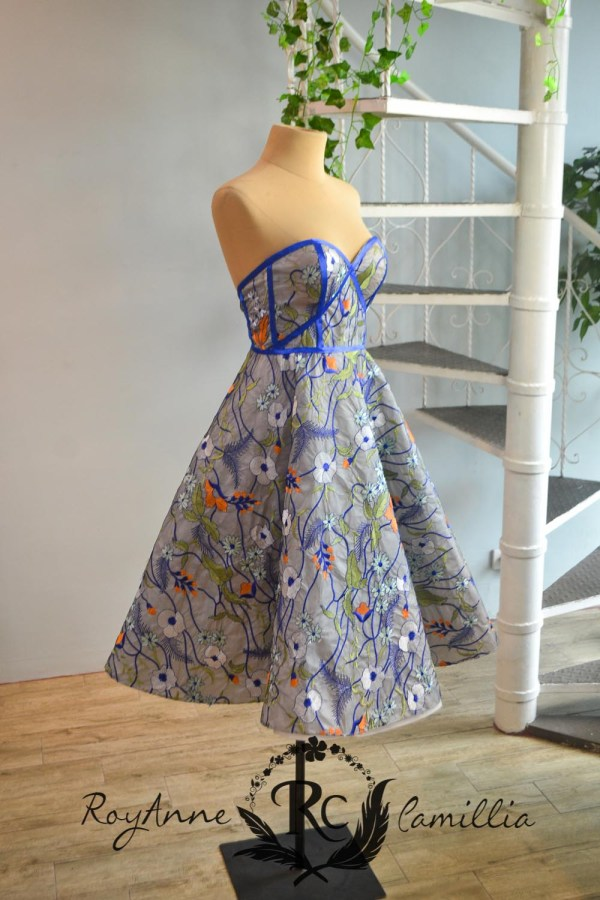 floral blue rental gown by royanne camillia the best rental gowns in the philippines