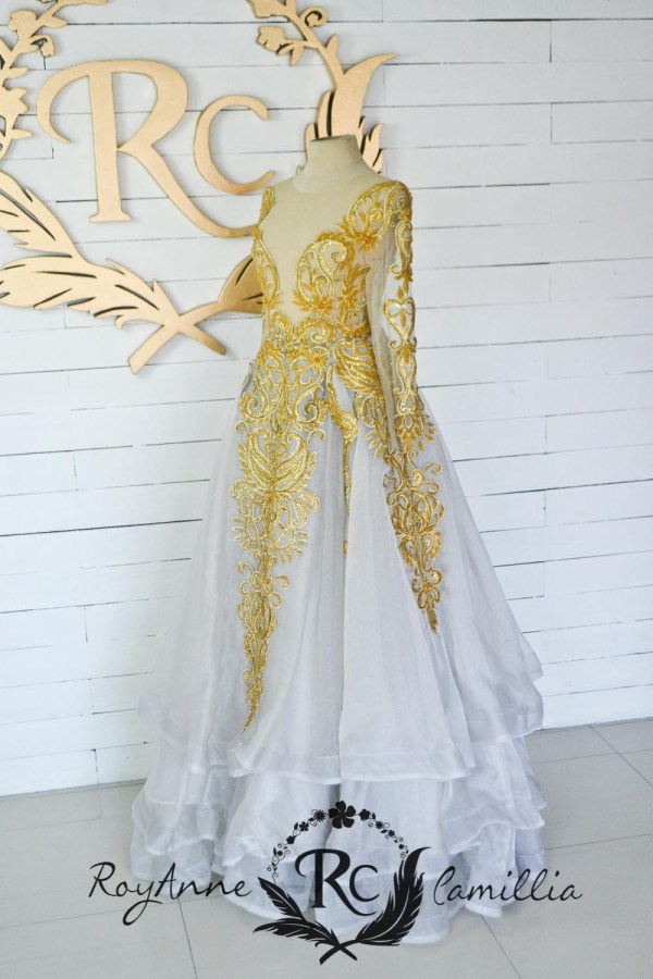 gold rental gown by royanne camillia - the best designer rental gowns in the philippines