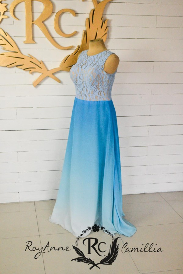 ombre blue rental gown by royanne camillia - the best gown rentals in Manila