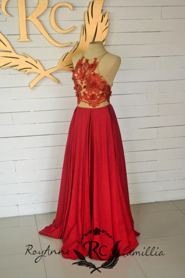 red rental gown by royanne camillia - the Best rental gowns in the Philippines