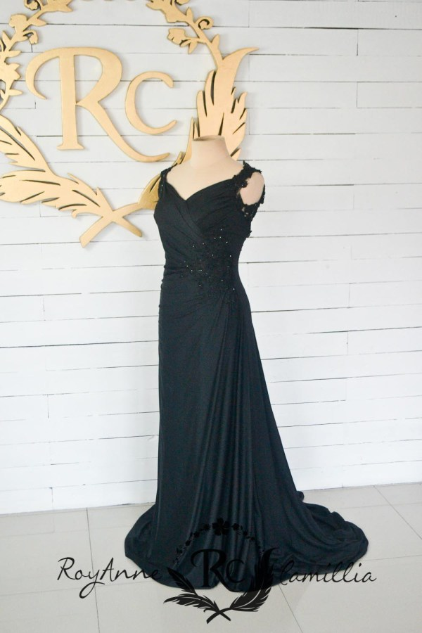 black rental gown by royanne camillia - the best rental gowns in manila
