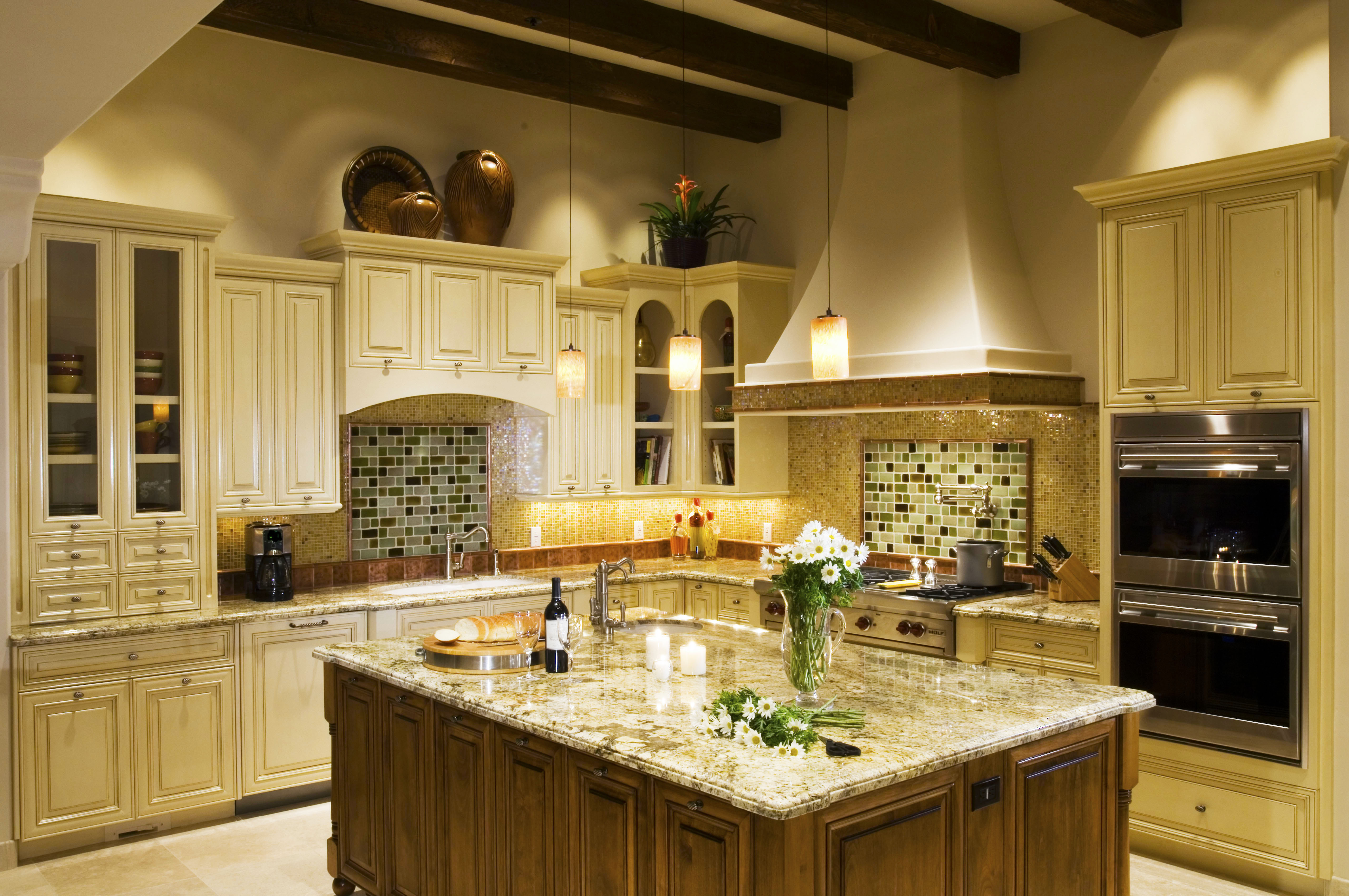 cost to remodel kitchen with glass pendant lamp over kitchen island with granite backsplash designs for average cost kitchen renovation nyc