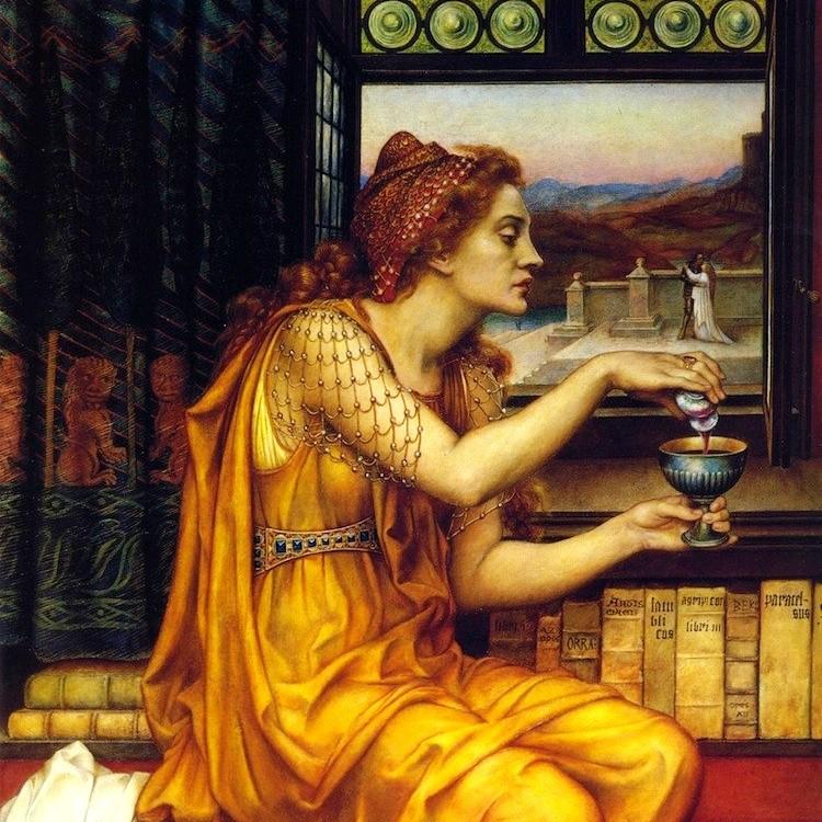 """Żywot trucicielki nie był łatwy... Obraz """"The Love Potion"""" z 1903 roku autorstwa Evelyn De Morgan"""
