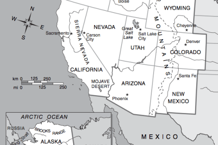 pics photos map of the western united states with a road