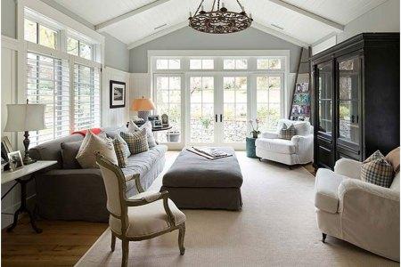 modern farmhouse family room design