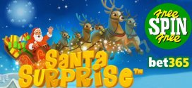 Get up to 50 Free Spins on Santa Surprise with Casino at bet365