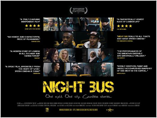 NIGHT BUS POSTER STARS