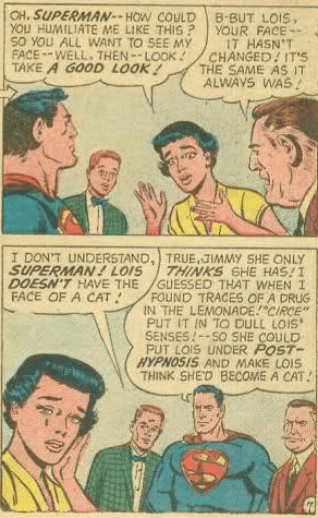 Hey, guys. Let's stand around and talk about Lois's psychological problems like she's not here.