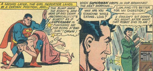 superman spanks lois