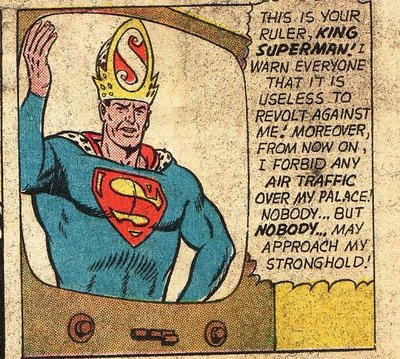 I know he has a saviour complex but the Super-Pope hat is a bit much.