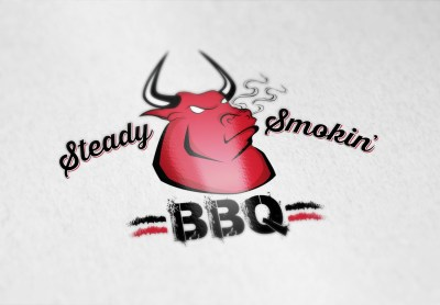 Steady Smokin' BBQ logo design