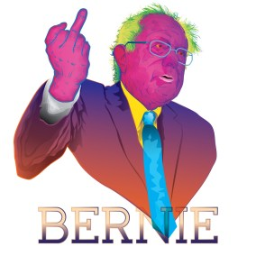 Bernie Sanders illustration by Sacramento Illustrator Ruben Young