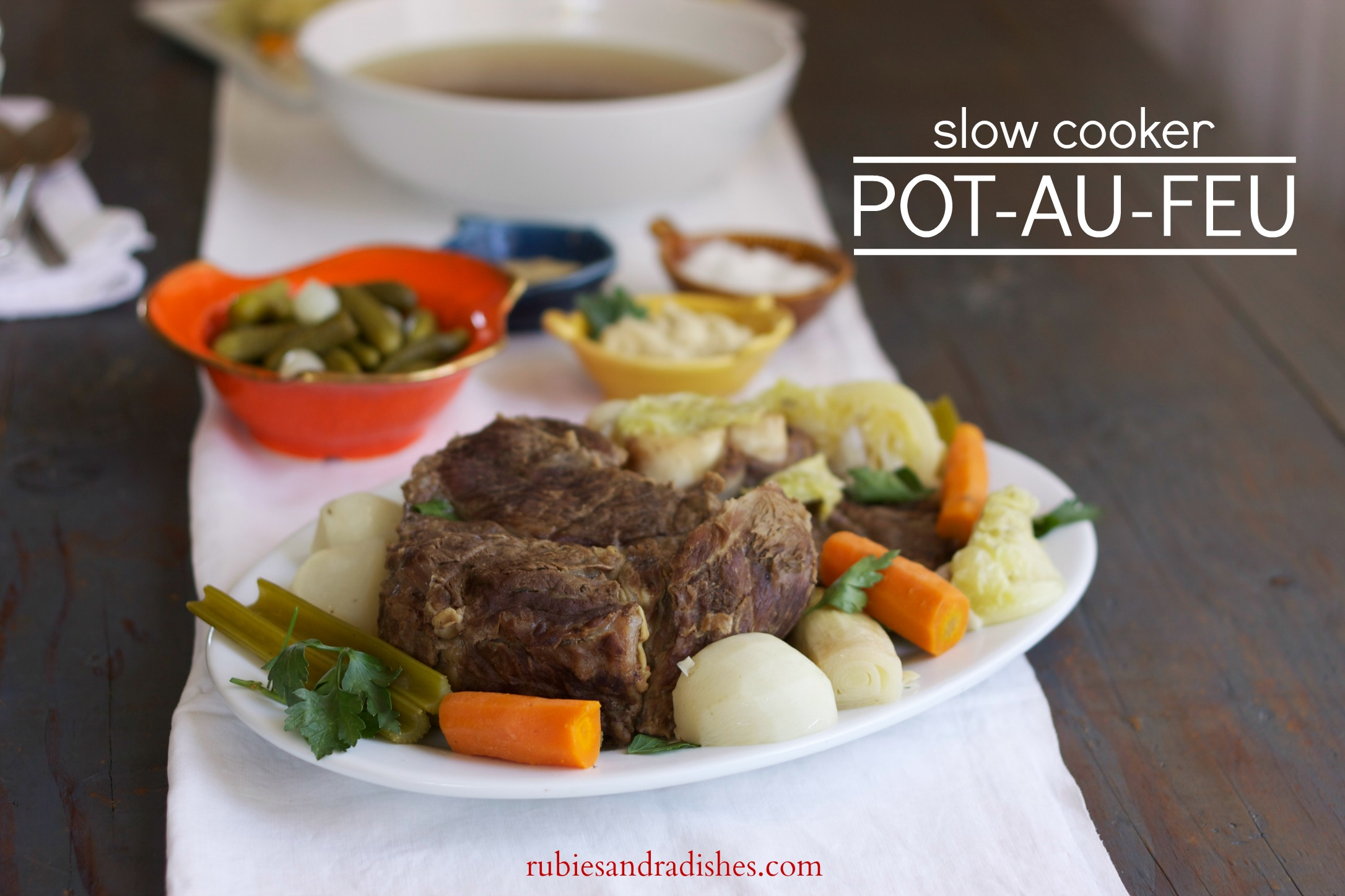 Slow Cooker Pot-au-feu