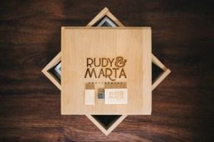 wooden photo box