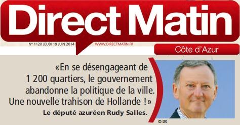 DIRECT MATIN TWITT DE RUDY SUR LA POLITIQUE DE LA VILLE