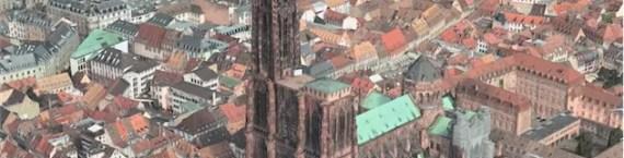 Strasbourg en 3D également sur iPhone désormais (capture d'écran)