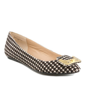 DVF Houndstooth Flats