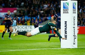 Bryan Habana scored a hat trick of tries