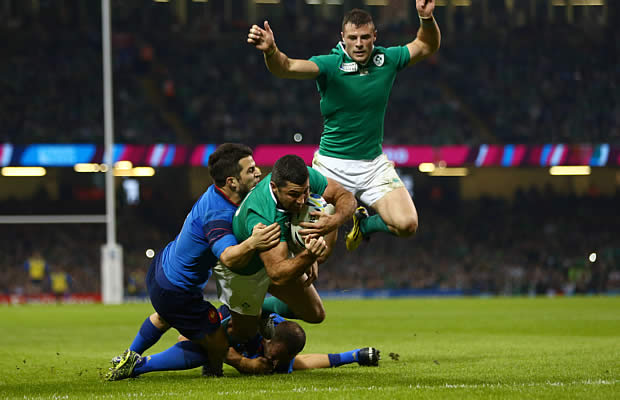 Rob Kearney scored Ireland's opening try